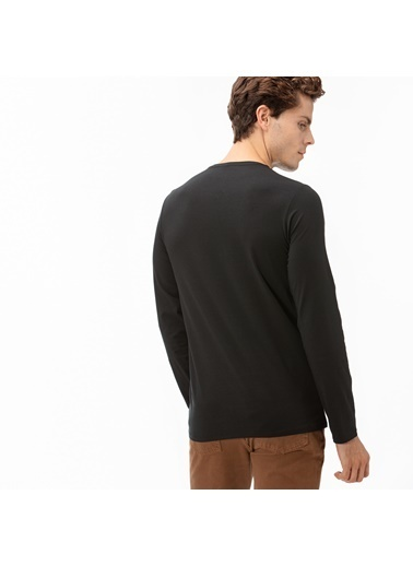Lacoste Erkek Uzun Kollu Sweatshirt TH0990.031 Siyah